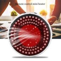 Fast Heating Mini Desktop Ceramic Heater Adjustable Temperature Electric Heater Remote Controlled Warmer Machine LED Screen