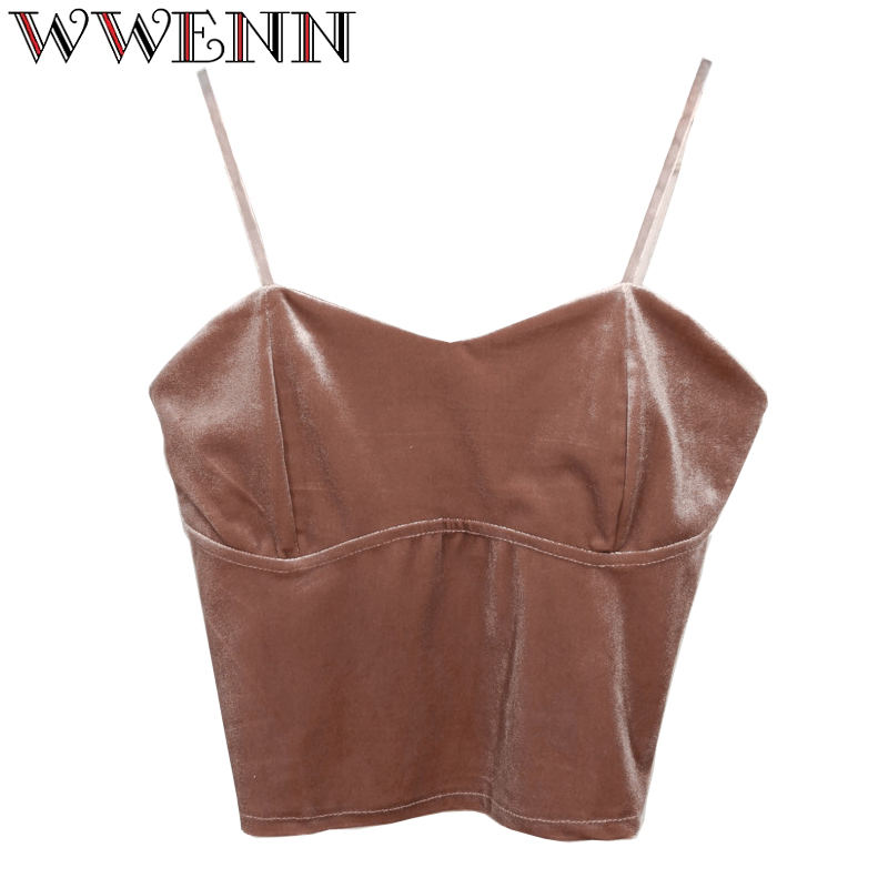 Summer top Women Camisole Tank Top Femal Velvet Crop Top Women Tops Streetwear Short Cropped Cami 90s Tees cropped feminino
