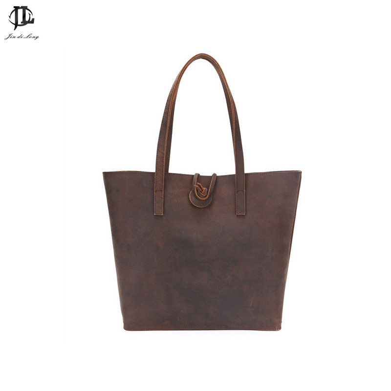 Retro Style Crazy Horse Genuine Leather Women  Casual  Composited Tote Handbag Shoulder Zipper Leisure Travel Shop BagsRetro Style Crazy Horse Genuine Leather Women  Casual  Composited Tote Handbag Shoulder Zipper Leisure Travel Shop Bags