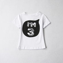 Unisex Summer T Shirt Girl 2018 Cotton Letter Tops Baby Clothes 1 2 4