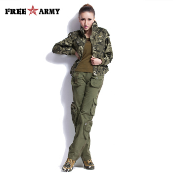 Large Size Cargo Pants Women Winter Military Clothing Tactical Pants Multi-Pocket Cotton Joggers Sweatpants Army Green Trousers 4
