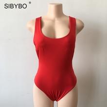 Backless Deep V Neck Bodysuit