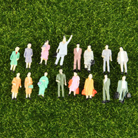 Dophee 100pcs 1 87 Building Layout Model People Train HO Scale Painted Figure Passenger
