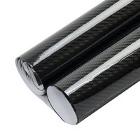 5d 검은 탄소 섬유 필름 자동차 스타일링 변경 자동차/차량 외관 비닐 필름 높은 광택 자동차 스티커 크기