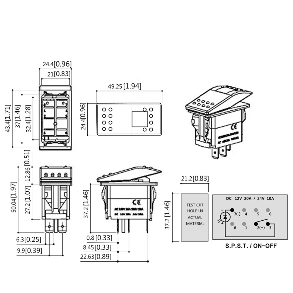 Lights Wiring Switch Accessory 3 Block And Schematic Diagrams How To Wire A Way Diagram With 2 High Quality Pin Laser Backlit Green Rocker Toggle Rh Aliexpress Com Light