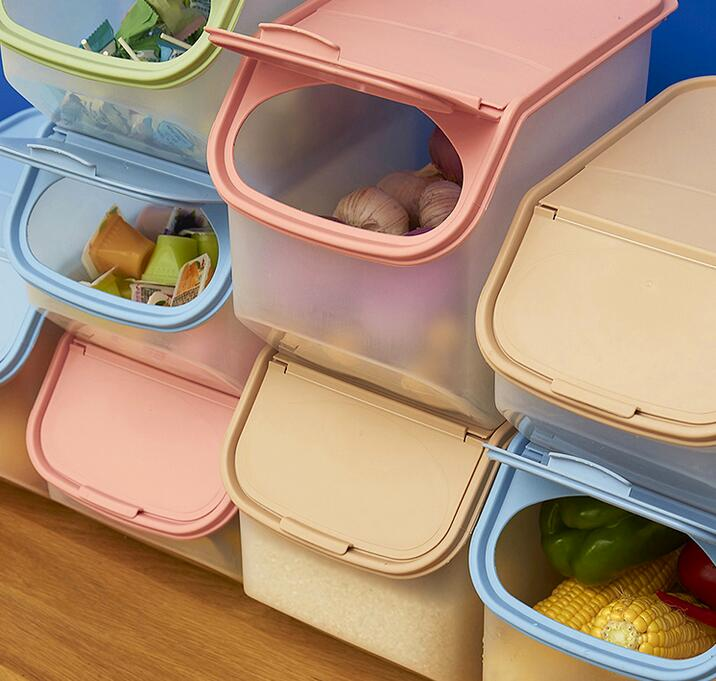 Large Capacity Rice Storage Box Grain Storage Container Food Storage Cereal Container Kitchen Storage Container Measuring Cup In Storage Boxes Bins From