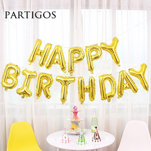 Image 3 - 13pcs Happy Birthday Letter Balloons 16inch Foil Ballons Birthday Party Decorations Rose Gold Silver Black Globos Gifts Supplies-in Ballons & Accessories from Home & Garden