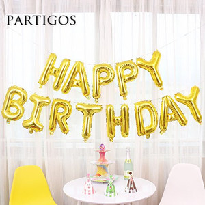 Image 3 - 13pcs Happy Birthday Letter Balloons 16inch Foil Ballons Birthday Party Decorations Rose Gold Silver Black Globos Gifts Supplies