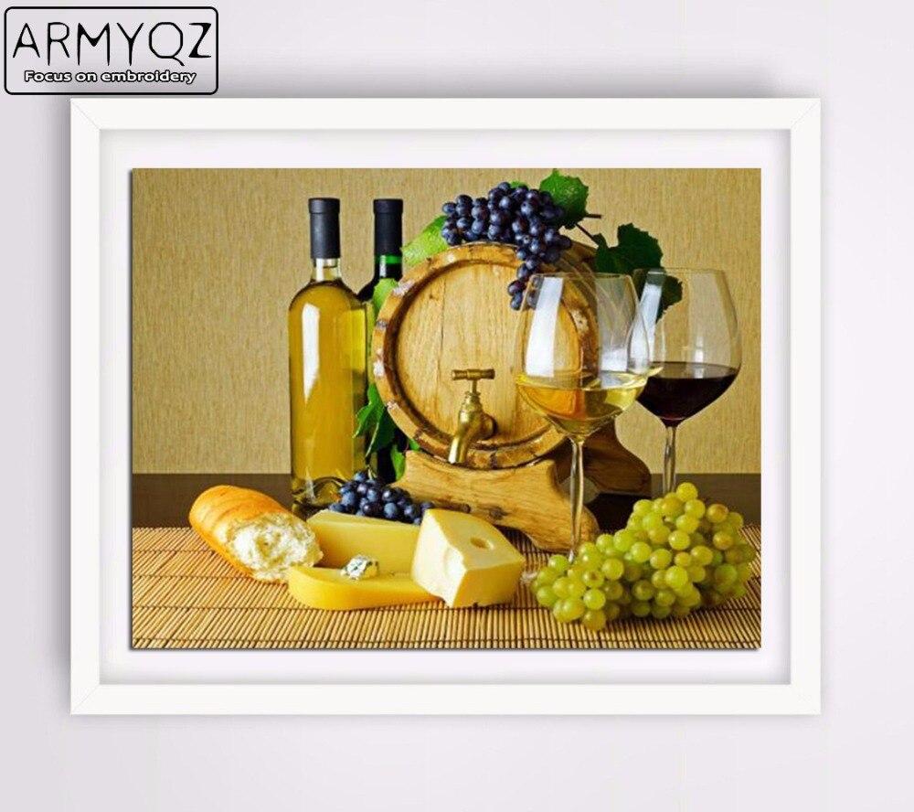 ᗕArmyqz nuevo diamante bordado Gafas y fruta uva diamante mosaico ...