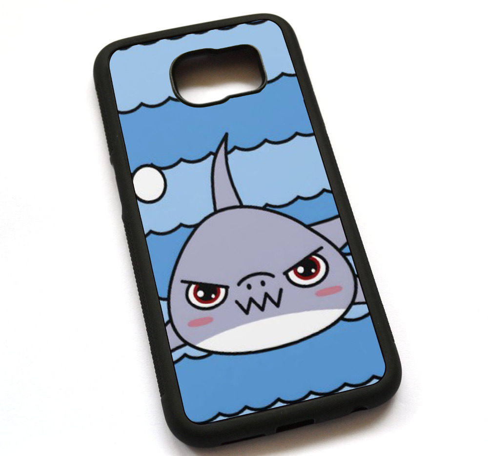 Kawaii Shark Case Cover, Case For Samsung Galaxy S5 S6 S7 S8 S8 Plus