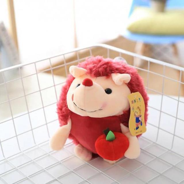 20cm Cute Pink Hedgehog Plush Toy Animal Plush Toy Small Pendant