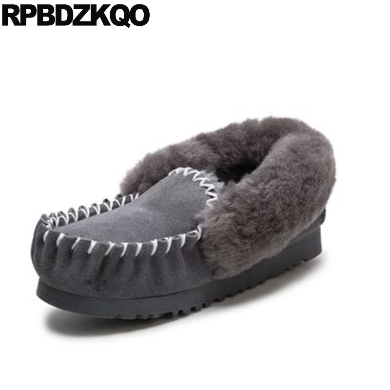 Grey Candy Designer Chinese Pink Shoes Slip On Fur Women Suede Ladies 2017 Round Toe Flats Red Wine Winter Snow Boots Australia fine zero spring women casual suede genuine leather platform flats tassel wedge slip on ladies creepers shoes red fur winter