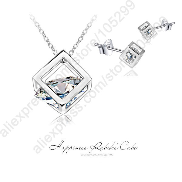 Haiyuan Necklace Necklace Pendant Clavicle Chain Fashion Jewelry Popular Double Heart Shape 18K Alloy Necklace Birthday Gift