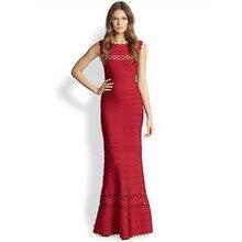 Frauen Lange Verbandkleid, Figurbetontes Kleid Bodenlangen Neueste Cocktail Party Kleid 2166 XS S M L