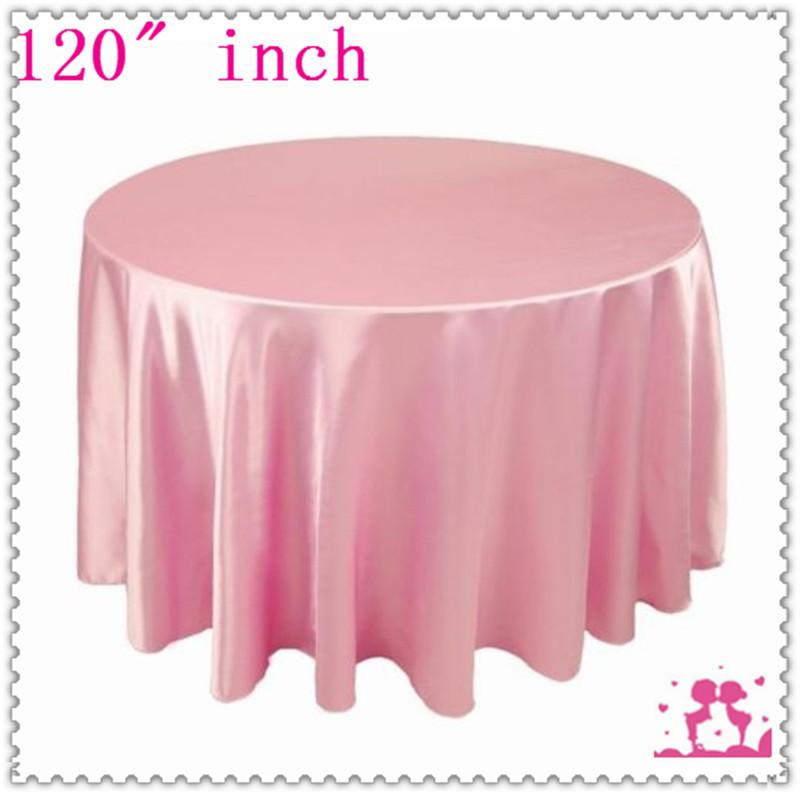 15pcs 120'' Round Satin  Tablecloths for Weddings round dining table set
