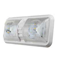1PC 12V 48 LED Double Dome Interior Light Roof Ceiling Reading For Camper For RV Boat