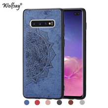 For Samsung Galaxy S10 Plus Soft TPU Cloth Texture Hard Phone Case Cover Fundas