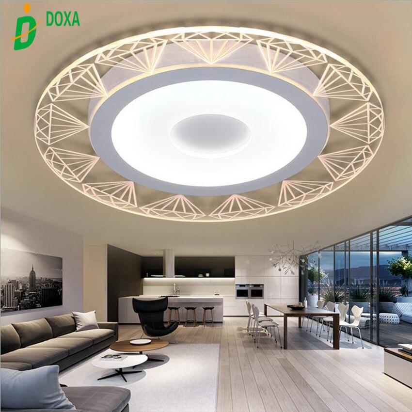 Moderne Acryl Design Kreis Geformt Diamant Muster Led Wohnzimmer Deckenleuchten Luminarias Lamparas De Techo Fr
