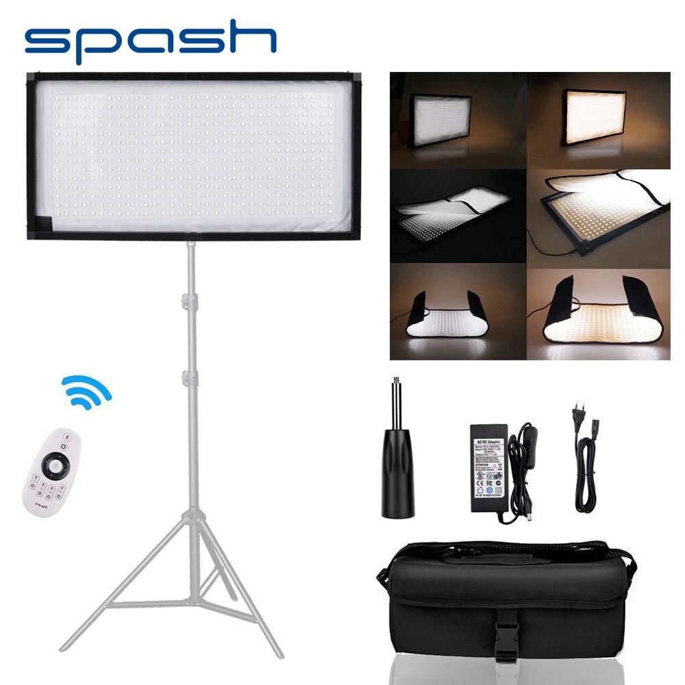 Spash FL-3060A Flexível Luz DIODO EMISSOR de Luz para a Fotografia de Estúdio Iluminação Bi-color 3200 k-5500 k 448 LEDs CRI90 Lâmpada Foto