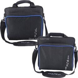 Jogo PS4 Sytem Sacos Caso Saco de Transporte Da Lona Ombro Bolsa Protetora para PlayStation 4 PS4 Slim Console