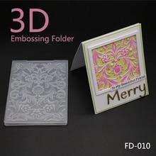 AZSG 2018 New Arrival 3D Flowers Leaves Embossing Plates Design DIY Paper Cutting Dies Scrapbooking Plastic Folder