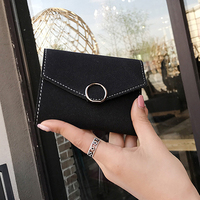 2017 Women Wallet PU Leather Short Purse Wallet For Women With Card Holder And Hasp Budalla