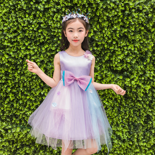 Summer children wedding dress full vest princess baby girl show summer children wedding dress full vest princess baby girl show flower thick and disorderly dress kids junglespirit Images
