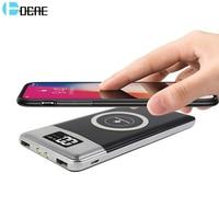 DCAE QI Wireless-ladegerät Power Bank 10000 mah mit Digitalanzeige Dual USB Externe Batterie Powerbank für iphone X 8 Samsung S8