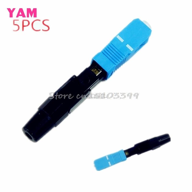 5Pcs SC Optic Fiber Quick Connector Multimode FTTH SC Single Mode UPC Fast Connector M12 dropship