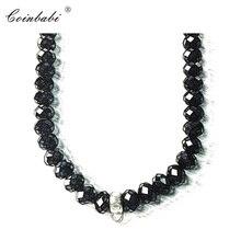 cbb3fb729283 Negro collar de cristal de regalo de moda para las mujeres y los hombres  estilo Thomas alma joyería TS 925 de plata esterlina jo.