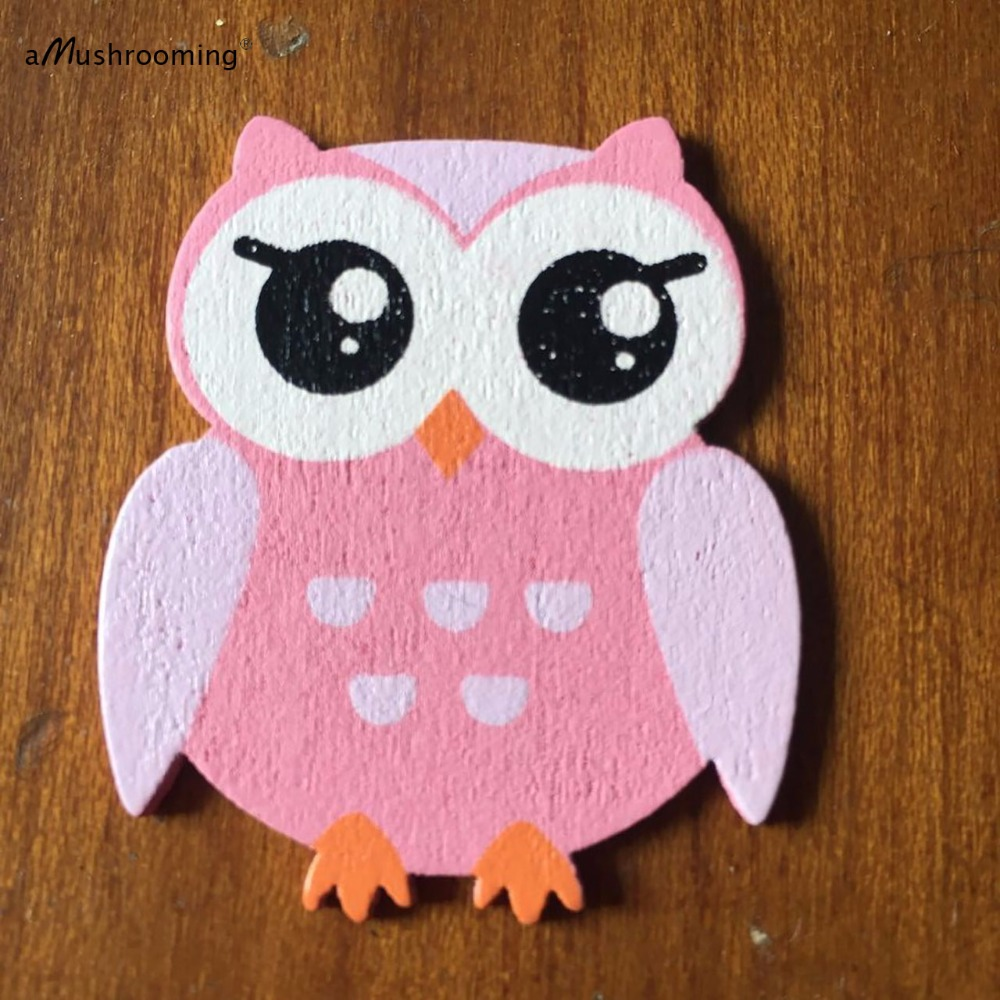 48pk cute handmade wooden owl pink blue craft shapes pieces for baby shower boy girls babys in party diy decorations from home garden on aliexpresscom