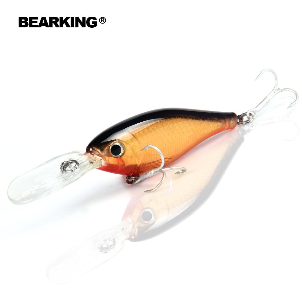 Bearking excelente acción 2017 Señuelos de Pesca minnow, cebos duros profesionales de calidad shad 8 cm/14g modelo caliente panceilbait crankbait