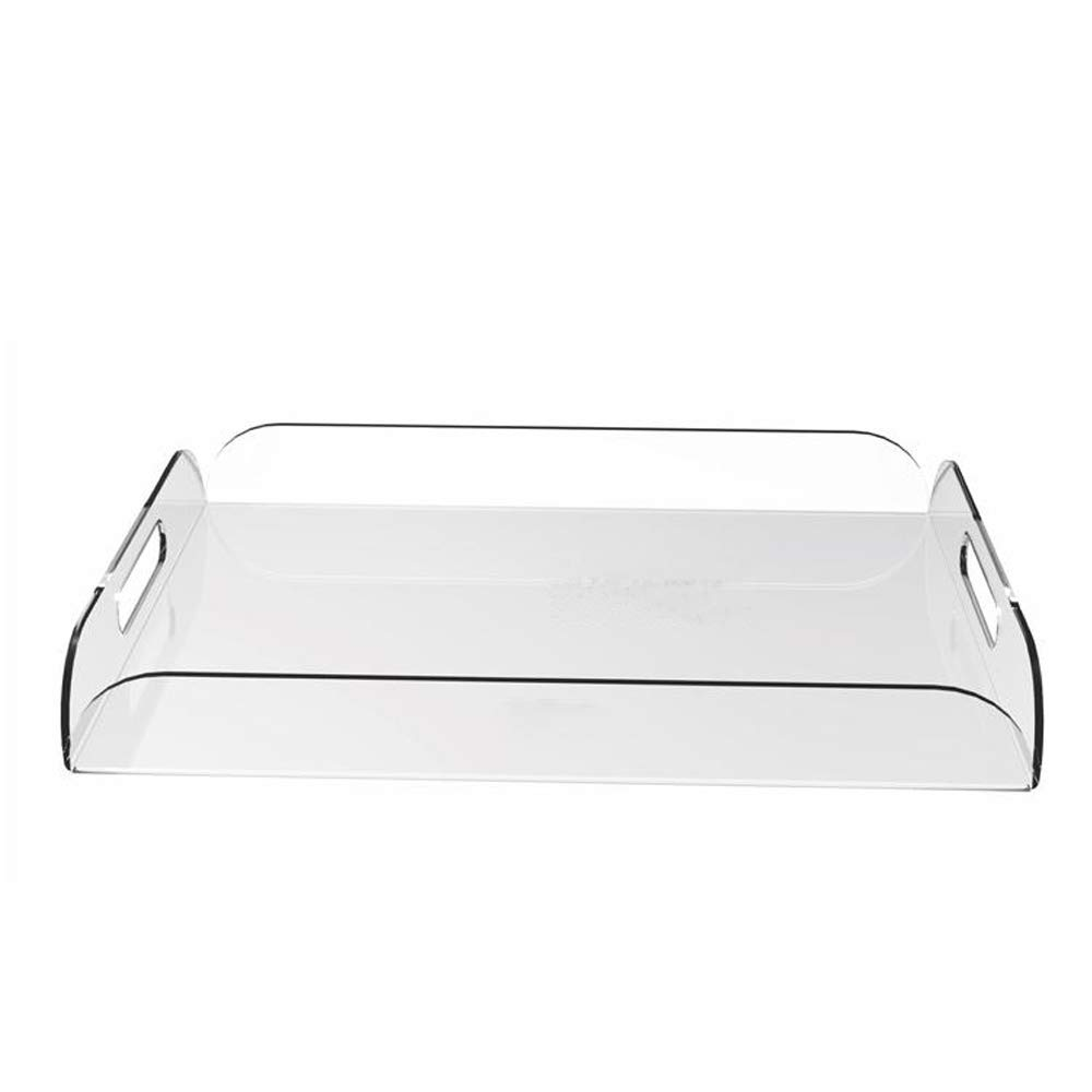 Rectangle Clear Acrylic Serving Trays with Handle for beverage,fruit,cake,toys YAT-001Rectangle Clear Acrylic Serving Trays with Handle for beverage,fruit,cake,toys YAT-001