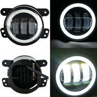 1 Pair Fog Lights 4Inch 30W Round LED Passing Offroad Fog Lamps For Jeep Wrangler JK TJ LJ Grand Cherokee Dodge Charger Magrum