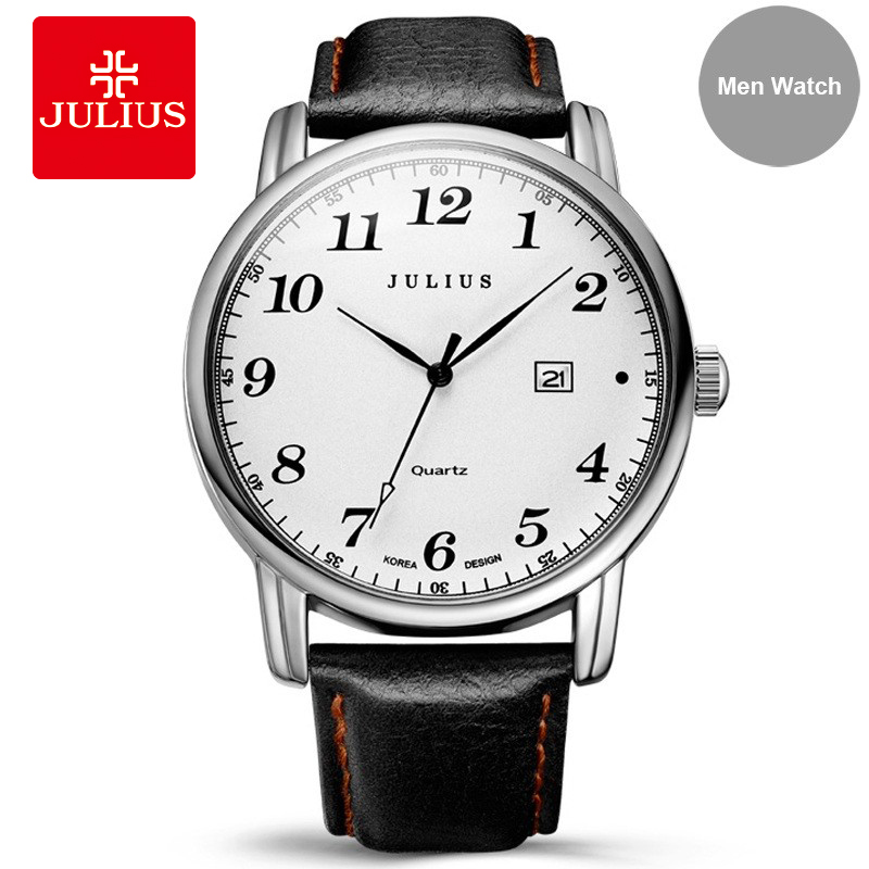 Julius Women Business Watches 2018 Top Brand Luxury Famous Male Clock Leather Wrist Watch Date Quartz Relogio feminino A1B1 baosaili fashion wrist watch men watches brand luxury famous male clock women unisex simple classic quartz leather watch bs996