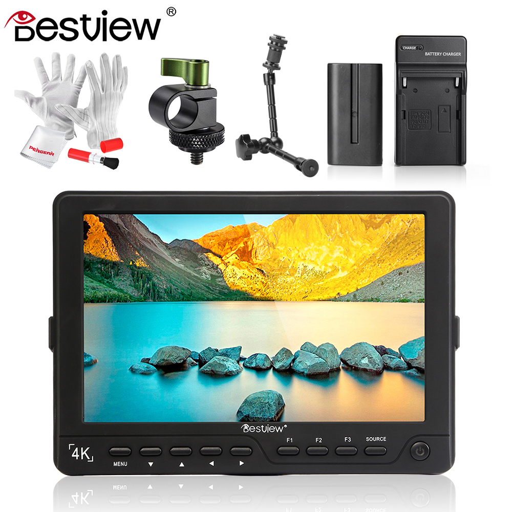 BESTVIEW S7 4K 7 Camera HDMI HD DSLR LCD Monitor 1920*1200 with Battery Kit +Magic Arm for Nikon Canon 5D 6D as Feelworld FW760 цена