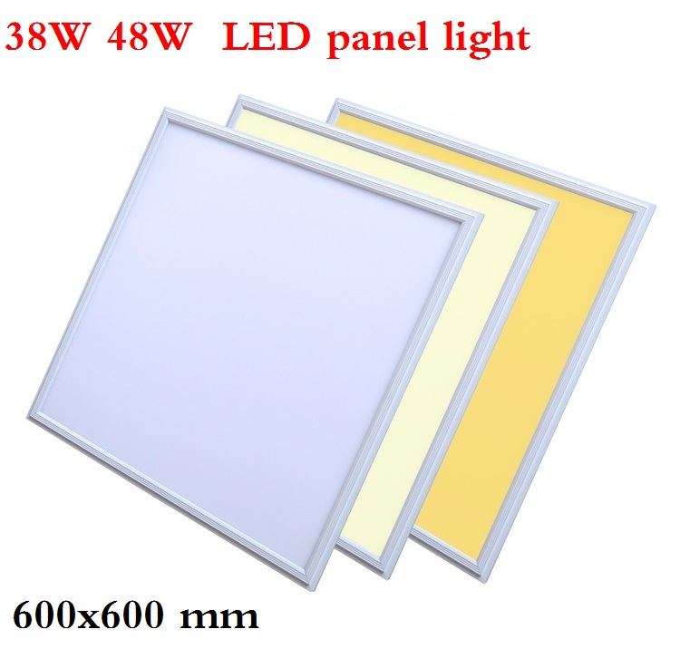 38W 48W led lamp 60CM*60CM led panel light AC85-265V , Slim panel 600mm*600mm led ceiling light warm white/pure white/cool white free shipping dimmable 48w 600x600mm led panel light high brightness led chips warm white natural white cold white available