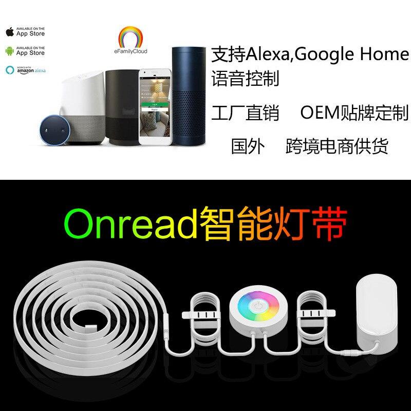 Фото WiFi smart led lights with high pressure smart wireless RGB lights with waterproof fire Alexa voice intelligence