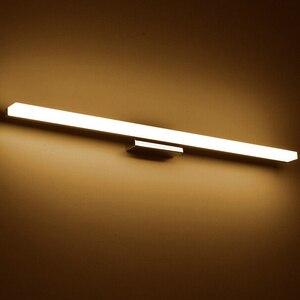 Image 2 - Более длинный светодиодный зеркальный светильник, современный косметический акриловый настенный светильник, водонепроницаемый светильник для ванной комнаты