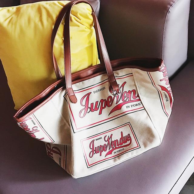 3b2adcd11 Supper Big Lady Casual Canvas Shoulder Bag New Fashion Women's Handbag  Fashion Large Capacity Tote Bag Female Cotton Leisure Bag