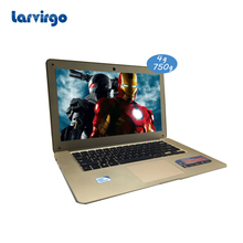 4G RAM 750G HDD 14 inch laptop Expandable hard drive computer windows 10 system built in camera with wifi