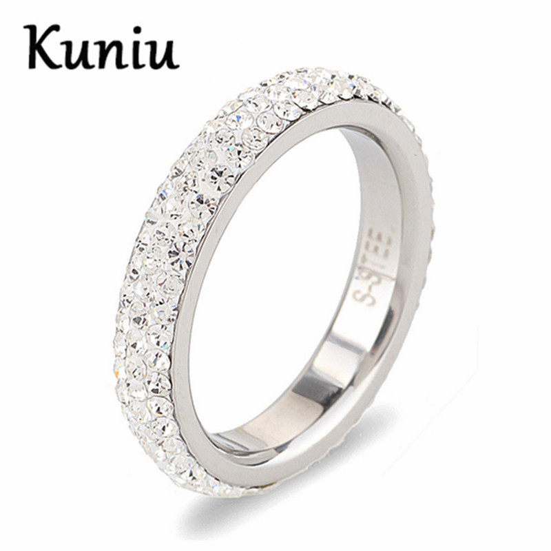 Fashion 3 Row Clear Crystal CZ ring for s