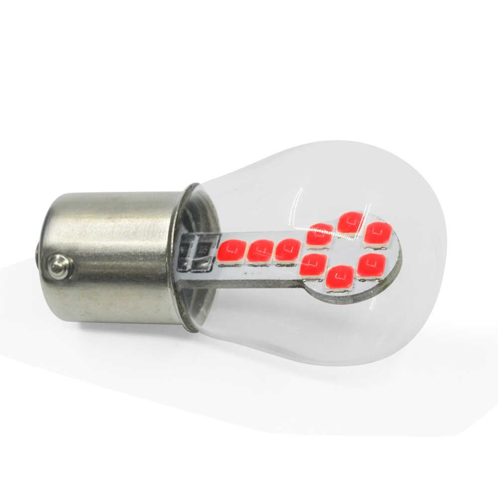 1PC S25 1156 P21W BA15S BAY15D P27W 1157 3030 18SMD Car Backup Reserve Light turn Brake Bulb CANBUS Daytime Running Light