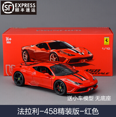 ФОТО 458 Speciale Bburago 1:18 Original simulation alloy car model Red supercar Fast and Furious Italy classic cars  Racing Toy