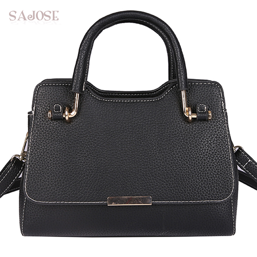 Tote Bags For Women Fashion PU Leather Handbag Shoulder Bag Ladies Classic Simple Black Designer Bags Bolsos Mujer Drop Shipping princess sissi ladies shoulder bags for women 2017 new fashion cartoon character crossbodybags for ggirls black pu leather bags