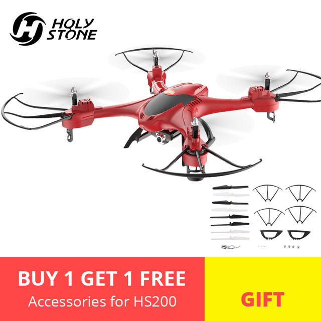 [EU USA JP Stock] Holy Stone HS200 Drone HD 720P Wifi FPV Camera Quadcopter APP Control 4GB Card Headless Mode RTF Helicopter