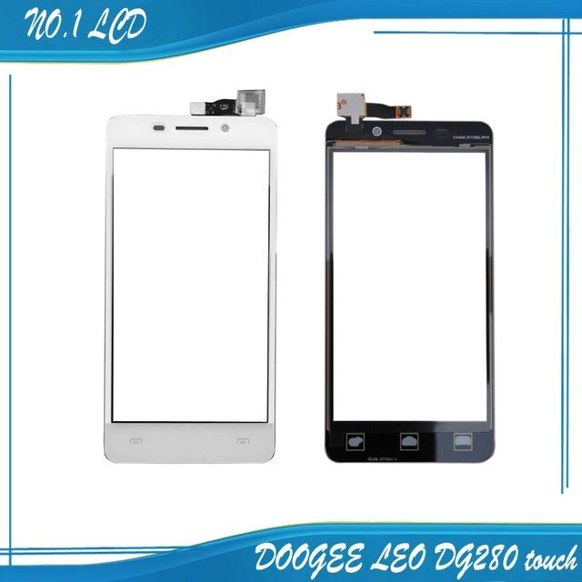 100% Original de la Pantalla Táctil Touch Panel Reemplazo Perfecto para DOOGEE DG280 LEO DG280 F6045074-FPC-V2.0 TP Envío Libre + blanco