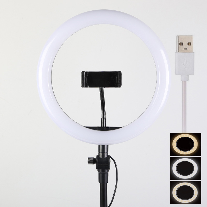 10inch ring led kit with stand white and yellow Light for Phone Photo 14inch ring light 2 phone holder