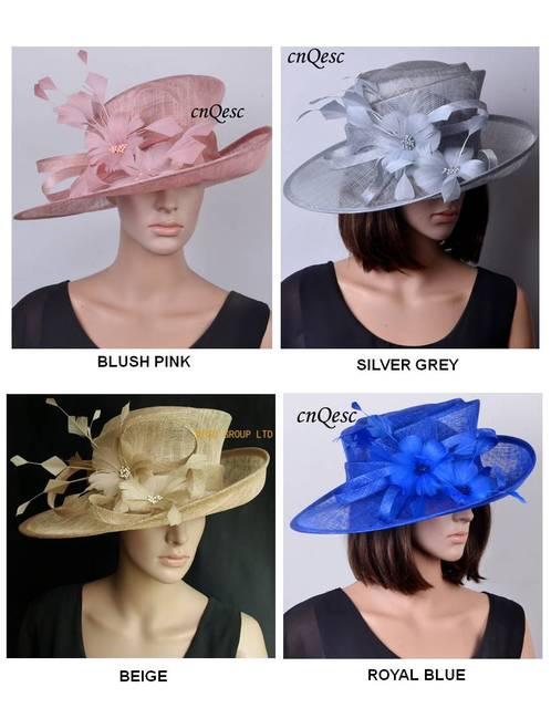 b3c55134d0c Wholesale multiple colors Sinamay hats Kentucky derby panama women s hat  Church Hat.Royal blue