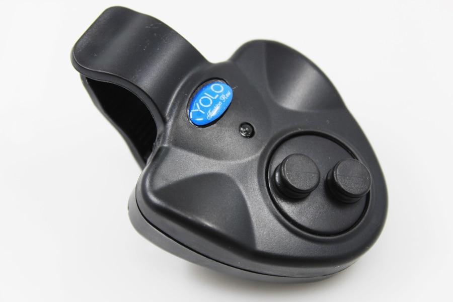 Black Mini Electronic Wireless ABS Fish Bite Alarm Sound Alert Running LED Sensitive on fishing rod